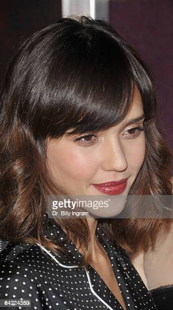 Actress Jessica Alba arrives at the Los Angeles premiere of My Bloody Valentine 3D at the Mann's Chinese Six Theater on January 8 2009 in Hollywood...