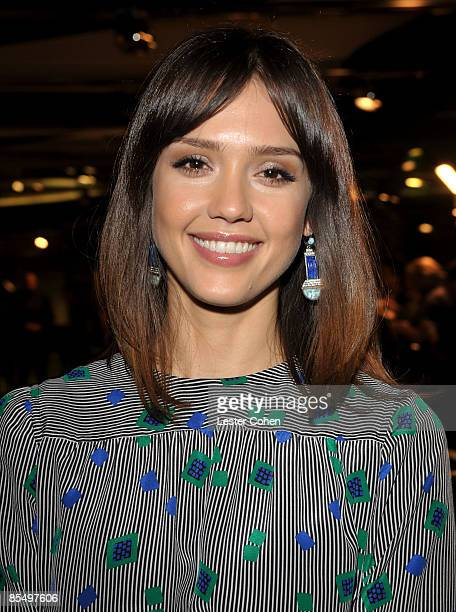 Actress Jessica Alba arrives at the Los Angeles premiere of Sugar held at the Silver Screen Theater at the Pacific Design Center on March 18 2009 in...