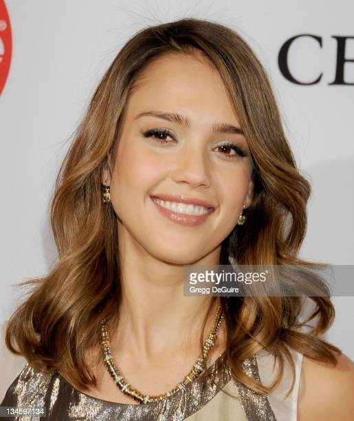 Actress Jessica Alba arrives at the March Of Dimes' 6th Annual Celebration Of Babies Luncheon at Beverly Hills Hotel on December 2, 2011 in Beverly...