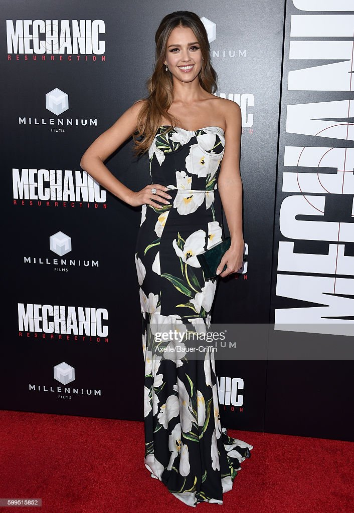 Actress Jessica Alba arrives at the premiere of Summit Entertainment's 'Mechanic: Resurrection' at ArcLight Hollywood on August 22, 2016 in Hollywood, California.