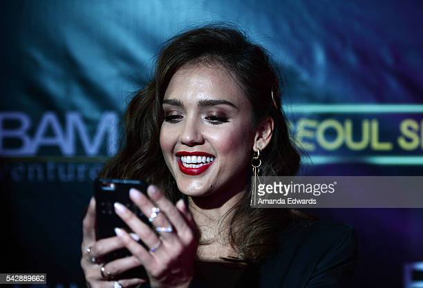 Actress Jessica Alba arrives at the premiere of Wonder Vision's 'Seoul Searching' at The Majestic Downtown on June 24 2016 in Los Angeles California