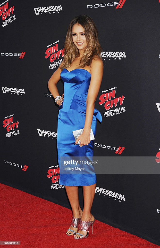 Actress Jessica Alba arrives at the 'Sin City: A Dame To Kill For' - Los Angeles Premiere at TCL Chinese Theatre on August 19, 2014 in Hollywood, California.