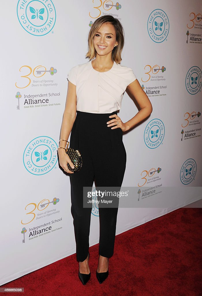 Actress Jessica Alba arrives at the The Independent School Alliance For Minority Affairs Impact Awards Dinner at Four Seasons Hotel Los Angeles at Beverly Hills on March 17, 2015 in Los Angeles, California.