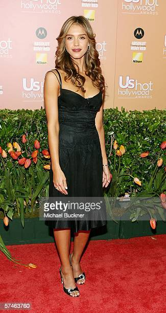 Actress Jessica Alba arrives at the US Weekly Hot Hollywood Awards at the Republic Restaurant and Lounge on April 26 2006 in Los Angeles California