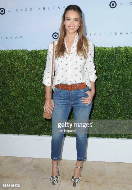 Actress Jessica Alba arrives at Victoria Beckham For Target Launch Event at Private Residence on April 1 2017 in Los Angeles California