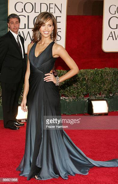 Actress Jessica Alba arrives to the 63rd Annual Golden Globe Awards at the Beverly Hilton on January 16 2006 in Beverly Hills California