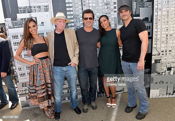 "Actress Jessica Alba, artist Frank Miller, actor Josh Brolin, actress Rosario Dawson and filmmaker Robert Rodriguez attend ""SIN CITY: A DAME TO KILL..."