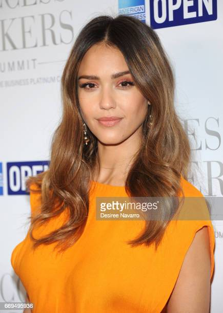 Actress Jessica Alba attends 2017 Success Makers Summit at Spring Place on April 17 2017 in New York City