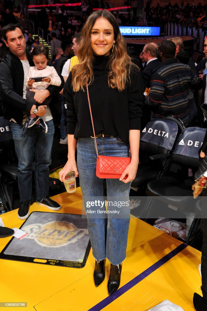 Actress Jessica Alba Attends A Basketball Game Between The Los News Photo Getty Images