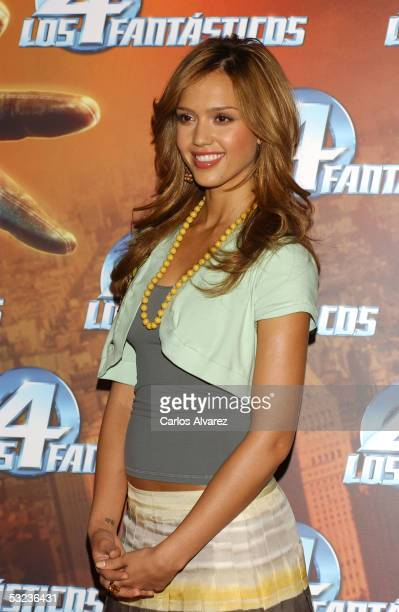 Actress Jessica Alba attends a photocall to promote the new film 'Fantastic Four' at Hotel Palace on July 14 2005 in Madrid Spain