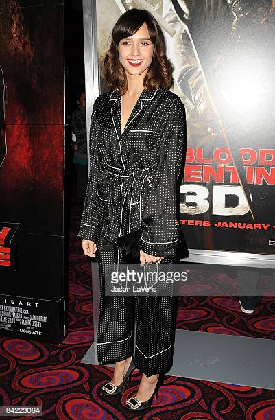 Actress Jessica Alba attends a screening of My Bloody Valentine 3D at Mann's Chinese 6 on January 8 2009 in Hollywood California