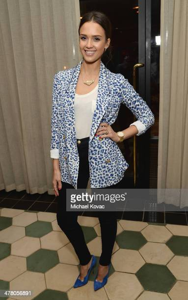 Actress Jessica Alba attends Anthropologie Celebrates A Denim Story by Emily Current Meritt Elliott and Hilary Walsh at PaliHotel on March 11 2014 in...
