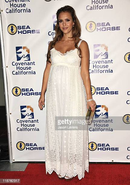 Actress Jessica Alba attends Covenant House California's 2011 gala and awards dinner at Skirball Cultural Center on June 9, 2011 in Los Angeles,...