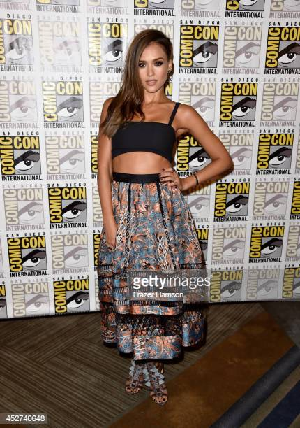 Actress Jessica Alba attends Frank Miller's Sin City A Dame To Kill For Press Line during ComicCon International 2014 at Hilton Bayfront on July 26...