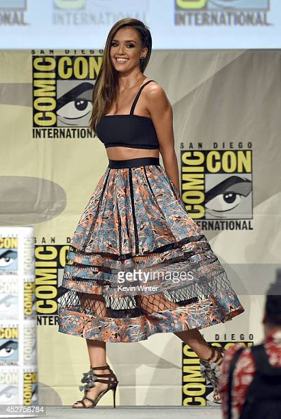 Actress Jessica Alba attends 'Frank Miller's Sin City A Dame To Kill For' panel during ComicCon International 2014 at San Diego Convention Center on...