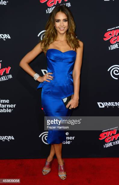 Actress Jessica Alba attends Premiere of Dimension Films' Sin City A Dame To Kill For at TCL Chinese Theatre on August 19 2014 in Hollywood California