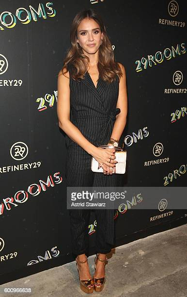 Actress Jessica Alba attends Refinery29's Second Annual New York Fashion Week Event '29Rooms' on September 8 2016 in Brooklyn New York