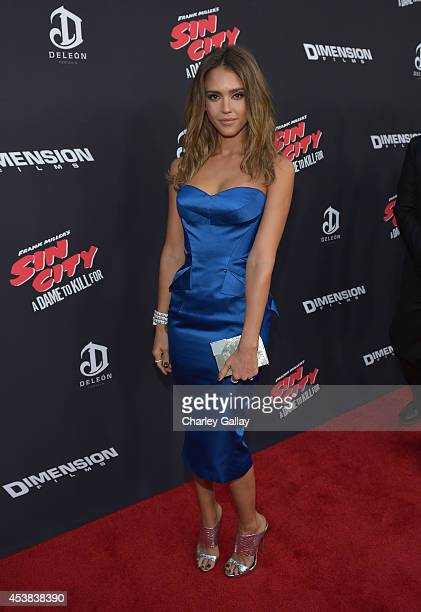 Actress Jessica Alba attends SIN CITY A DAME TO KILL FOR premiere presented by Dimension Films in partnership with Time Warner Cable Dodge and DeLeon...