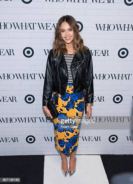 Actress Jessica Alba attends Target x Who What Wear launch party at ArtBeam on January 27, 2016 in New York City.
