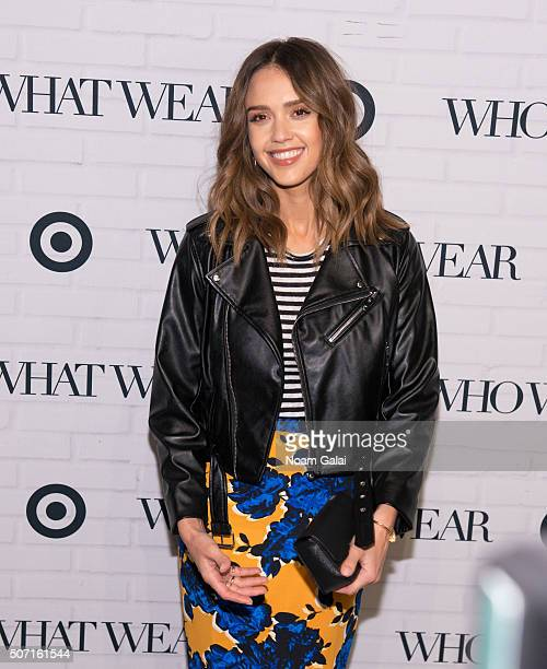 Actress Jessica Alba attends Target x Who What Wear launch party at ArtBeam on January 27 2016 in New York City