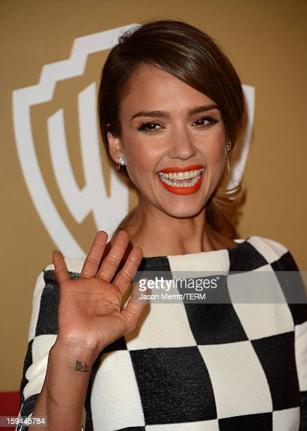 Actress Jessica Alba attends the 14th Annual Warner Bros And InStyle Golden Globe Awards After Party held at the Oasis Courtyard at the Beverly...
