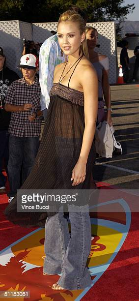 Actress Jessica Alba attends The 2004 Teen Choice Awards held on August 8, 2004 at Universal Amphitheater, in Universal City, California.