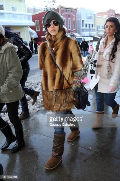 Actress Jessica Alba attends the 2010 Sundance Film Festival on January 24 2010 in Park City Utah