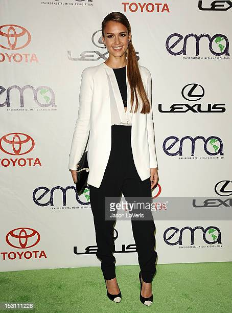 Actress Jessica Alba attends the 2012 Environmental Media Awards at Warner Bros Studios on September 29 2012 in Burbank California