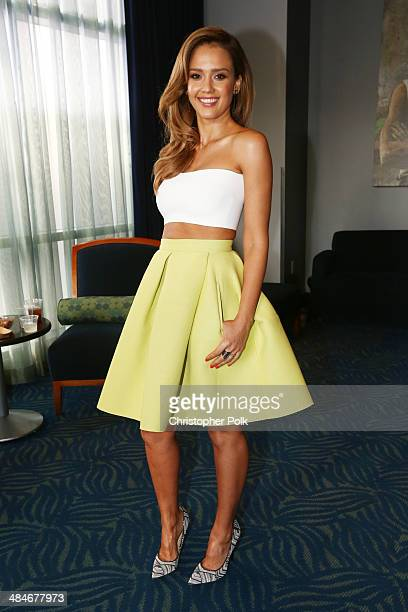 Actress Jessica Alba attends the 2014 MTV Movie Awards at Nokia Theatre LA Live on April 13 2014 in Los Angeles California