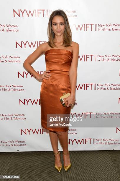 Actress Jessica Alba attends the 2014 New York Women In Film And Television 'Designing Women' Awards Gala at McGraw Hill Building on June 18 2014 in...