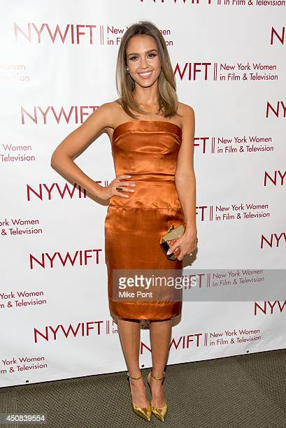 Actress Jessica Alba attends the 2014 New York Women In Film And Television Awards Gala at McGraw Hill Building on June 18 2014 in New York City