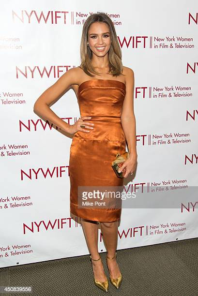 Actress Jessica Alba attends the 2014 New York Women In Film And Television Awards Gala at McGraw Hill Building on June 18, 2014 in New York City.