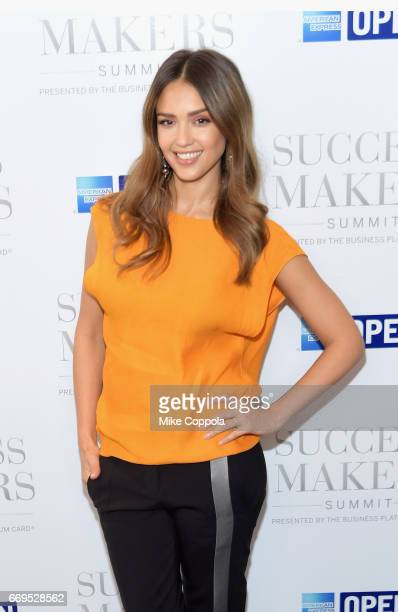 Actress Jessica Alba attends the 2017 Success Makers Summit at Spring Place on April 17 2017 in New York City