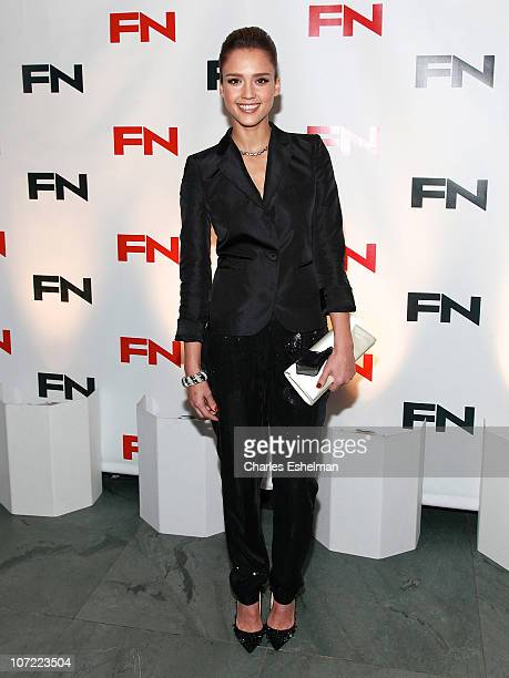 Actress Jessica Alba attends the 24th Annual Footwear News Achievement Awards at The Museum of Modern Art on November 30 2010 in New York City