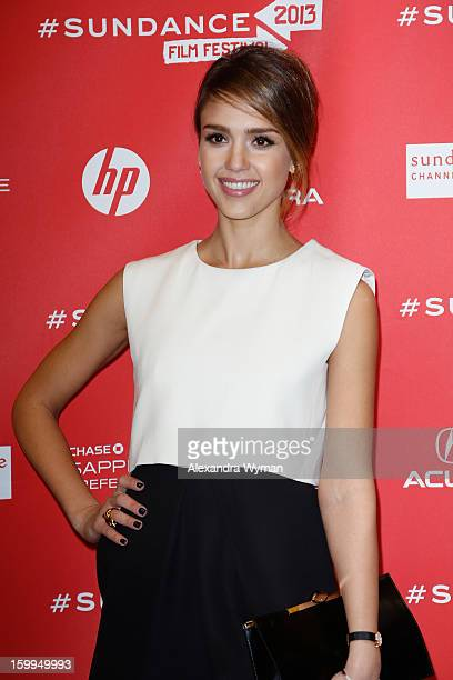Actress Jessica Alba attends the ACOD Premiere during the 2013 Sundance Film Festival at Eccles Center Theatre on January 23 2013 in Park City Utah