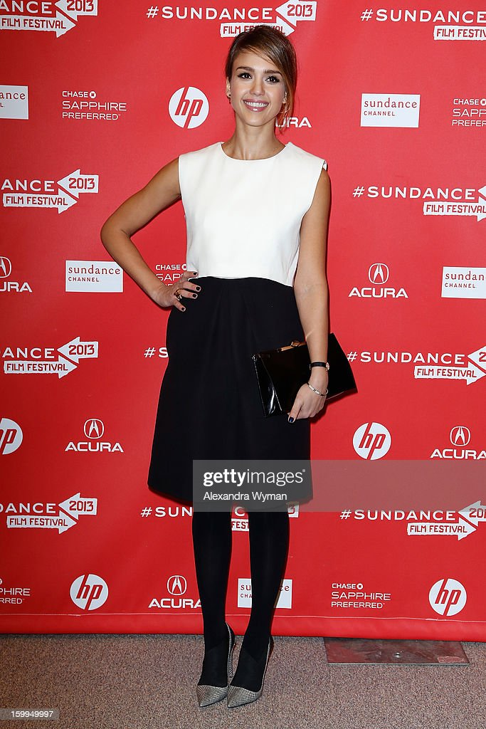 Actress Jessica Alba attends the 'A.C.O.D' Premiere during the 2013 Sundance Film Festival at Eccles Center Theatre on January 23, 2013 in Park City, Utah.