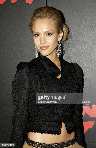 "Actress Jessica Alba attends the aftershow party following the UK premiere of ""Sin City"" at Dover Street on May 23, 2005 in London, England."
