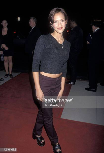 Actress Jessica Alba attends the 'Apt Pupil' Beverly Hills Premiere on October 6 1998 at the Academy of Motion Picture Arts Sciences in Beverly Hills...