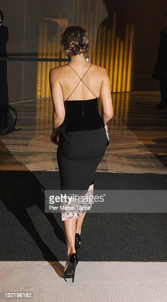 Actress Jessica Alba attends the Armani Hotel Milano Opening on November 10 2011 in Milan Italy