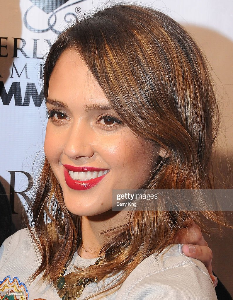 Actress Jessica Alba attends the Beverly Hills Camber of Commerce hosting