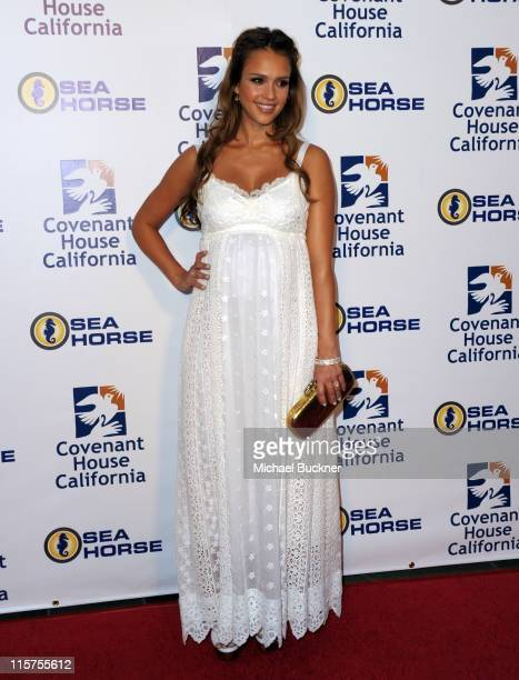 Actress Jessica Alba attends the Covenant House California 2011 Gala and Awards Dinner at the Skirball Center on June 9 2011 in Los Angeles California
