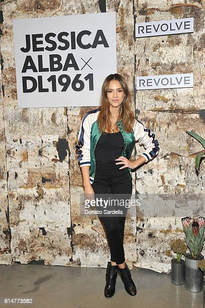 Actress Jessica Alba attends the DL1961 x Jessica Alba Collection Event at the REVOLVE Social Club on October 14 2016 in West Hollywood California