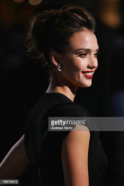Actress Jessica Alba attends the 'Fantastic Four Rise Of The Silver Surfer' premiere on July 20 2007 in Berlin Germany