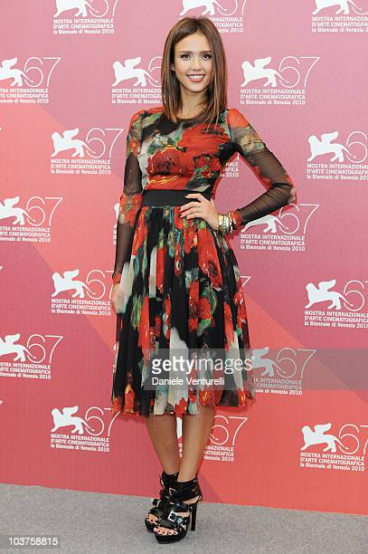 Actress Jessica Alba attends the Machete photocall at the Palazzo del Casino during the 67th Venice International Film Festival on September 12010 in...