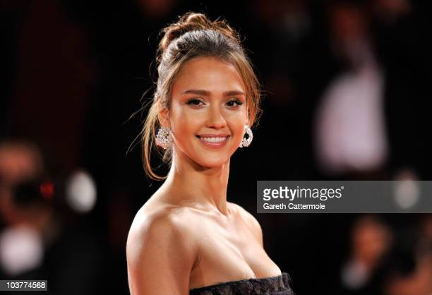 Actress Jessica Alba attends the Machete premiere during the 67th Venice Film Festival at the Sala Grande Palazzo Del Cinema on September 1 2010 in...