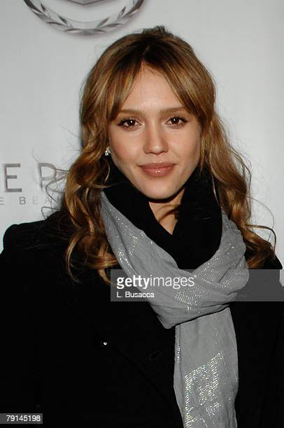 Actress Jessica Alba attends the Made In America Dinner at the Hollywood Life House on January 20 2008 in Park City Utah