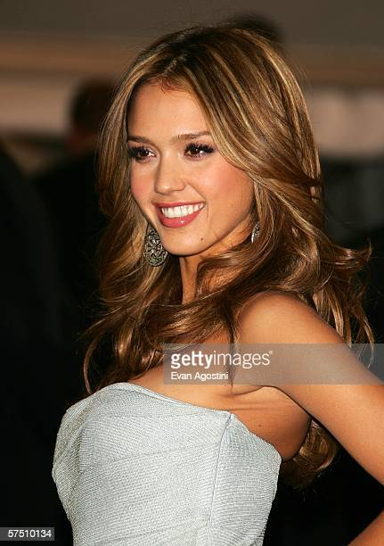 Actress Jessica Alba attends the Metropolitan Museum of Art Costume Institute Benefit Gala Anglomania at the Metropolitan Museum of Art May 1 2006 in...