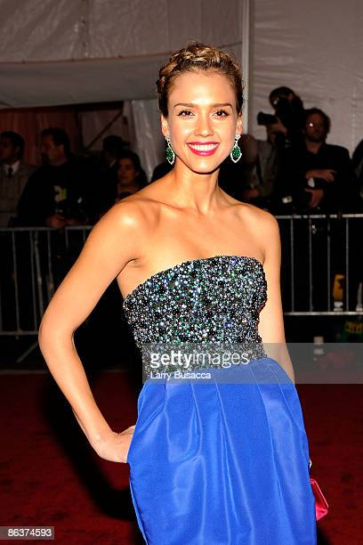 Actress Jessica Alba attends 'The Model as Muse Embodying Fashion' Costume Institute Gala at The Metropolitan Museum of Art on May 4 2009 in New York...