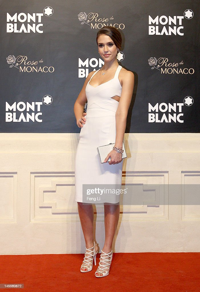 Actress Jessica Alba attends the Montblanc international gala to celebrate the official opening of its new and biggest concept store in the world at the Montblanc Sanlitun Concept Store on June 1, 2012 in Beijing, China.