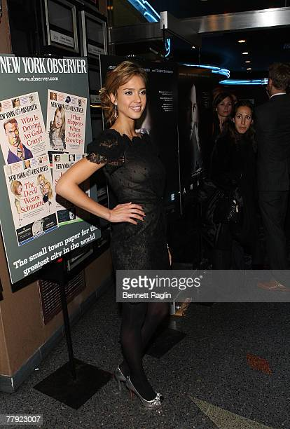Actress Jessica Alba attends the premiere of 'Awake' at Chelsea West Cinema November 14 New York New York